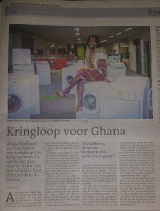 Abigail Kobiaah in de Leeuwarder Courant (23 juni 2016)