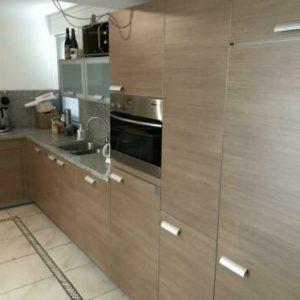 Complete hoekkeuken vaatwasser koelkast oven kraan vrieskast